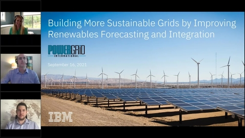 Thumbnail for entry Building More Sustainable Grids by Improving Renewables Forecasting and Integration