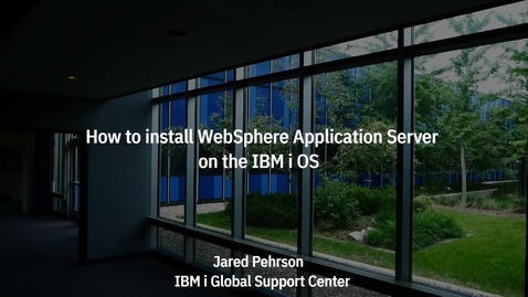 Thumbnail for entry How To Install the WebSphere Application Server Product on the IBM i OS