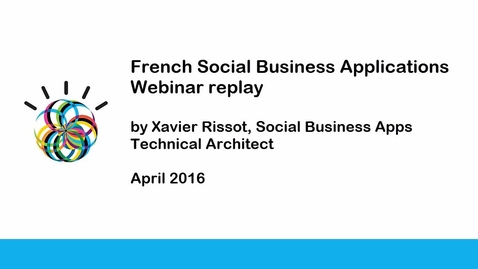 French Social Business Applications Webinar replay