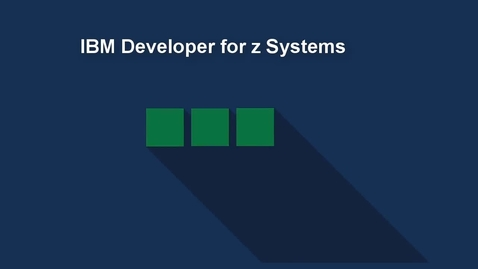 Thumbnail for entry Creating User Builds with IBM Developer for z Systems and Dependency Based Build