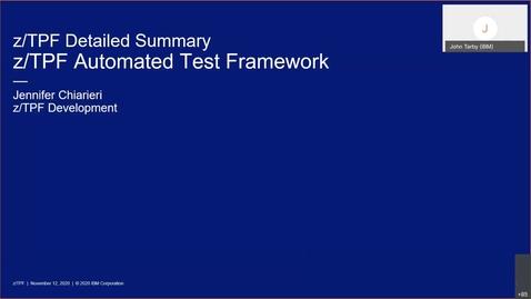 Thumbnail for entry z/TPF Internship: z/TPF Automated Test Framework