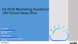 Thumbnail for entry 1Q 2018 Guidance – UKI Cloud Marketing Deep Dive - 14th December 2017