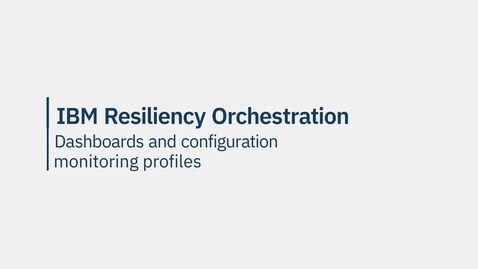 Thumbnail for entry IBM Cyber Incident Recovery demo