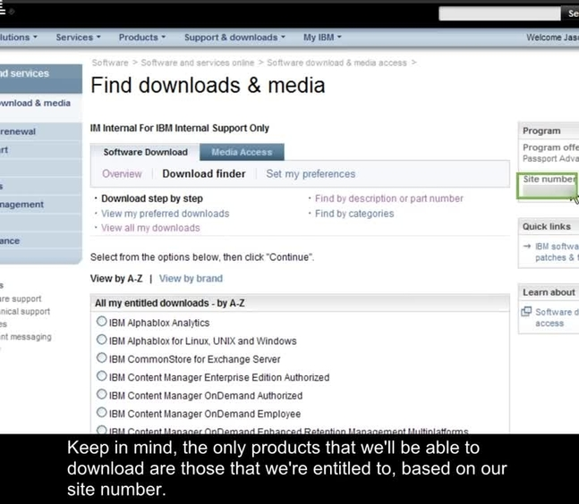 Downloading Products from Passport Advantage - IBM MediaCenter