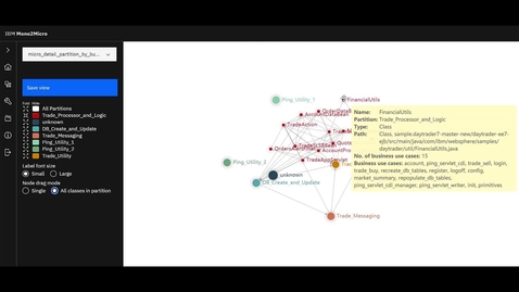 Thumbnail for entry Mono2Micro 데모 영상을 통해 마이크로서비스로 전환하는 방법 알아보기(한국어 음성 지원)