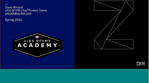 Thumbnail for entry DFSMShsm Education Series-HSM Fast Replication