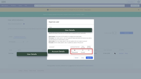 Thumbnail for entry Managing your IBM Customer Number (ICN)