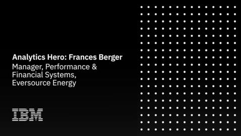 Thumbnail for entry Analytics Hero: Frances Berger