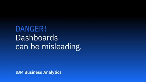 Thumbnail for entry Perigo - Dashboards podem ser enganosos