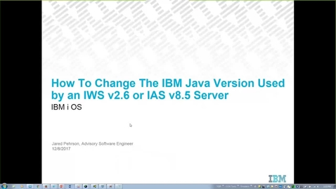 Thumbnail for entry How to Change the IBM JDK Version Used by an IBM IWS v2.6 and IAS v8.5 Server on the IBM i OS
