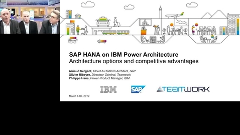 Thumbnail for entry SAP Hana on Power Architecture - Architecture options and competitive advantages