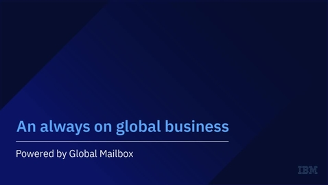 Thumbnail for entry Global Mailbox 6.0 Overview