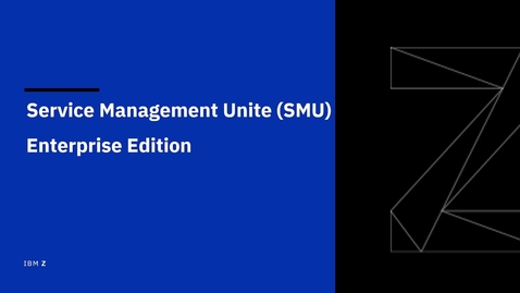 Thumbnail for entry Overview of IBM Service Management Unite Enterprise Edition