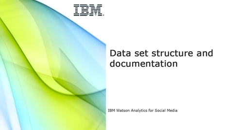 Thumbnail for entry Data set structure and documentation