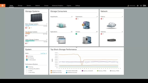 Thumbnail for entry Monitoring block storage performance with IBM Spectrum Control