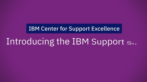 Thumbnail for entry Introducing the new IBM Support Site