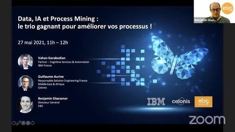 Thumbnail for entry Data, IA & Process Mining : le trio gagnant pour améliorer vos processus