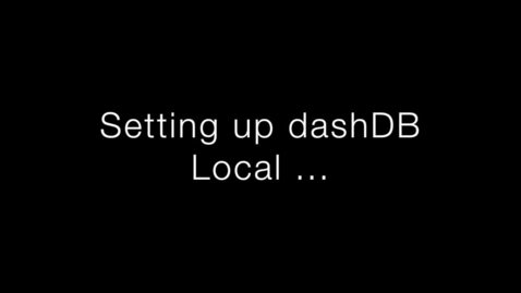 Thumbnail for entry Use dashDB local with Apache Spark