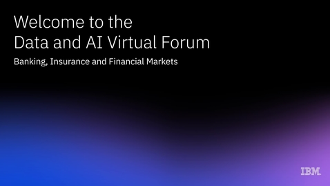 Thumbnail for entry Trustworthy AI: Forging the future of banking, insurance and financial markets
