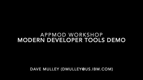 Thumbnail for entry Modern development experience for WebSphere and Java Applications