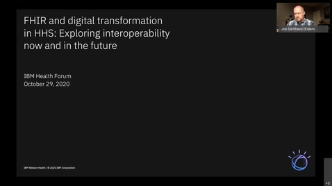 Thumbnail for entry FHIR and digital transformation in HHS: Exploring interoperability now and in the future