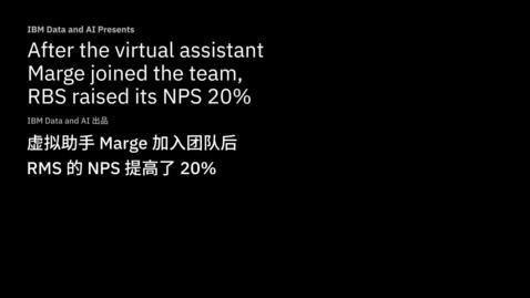 Thumbnail for entry 虚拟助手 Marge 加入团队后,苏格兰皇家银行的 NPS 提高了 20%