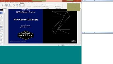 Thumbnail for entry DFSMShsm Education Series-HSM Control Data Sets