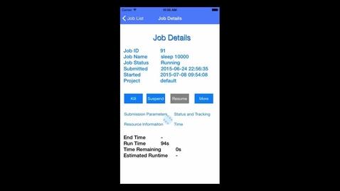 Thumbnail for entry IBM Spectrum LSF Job OPs mobile app - iOS