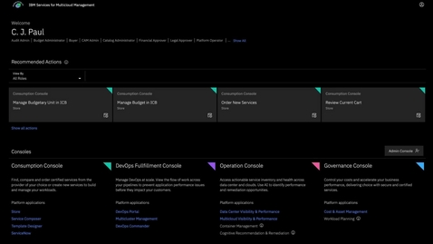 Thumbnail for entry Multicloud Management - Operations console