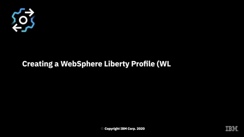Thumbnail for entry Creating a WebSphere Liberty Profile (WLP) server from OpenShift Container Platform through z/OS Cloud Broker