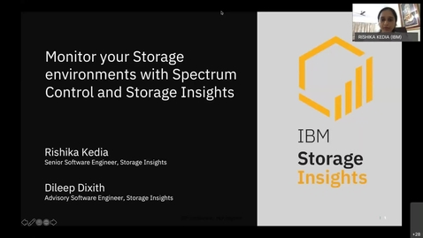 Thumbnail for entry Spectrum User Group Forum: Monitor your Storage environments with Spectrum Control and Storage Insights