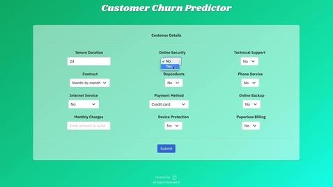 Thumbnail for entry 使用WatsonStudio和JupyterNotebook构建客户流失预测器