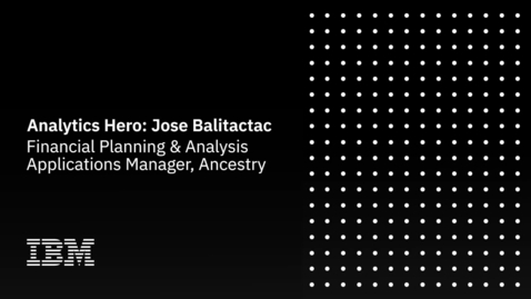 Thumbnail for entry Analytics Hero: Ancestry Video - Jose Balitactac
