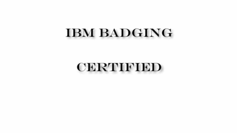 Thumbnail for entry What are IBM Badges