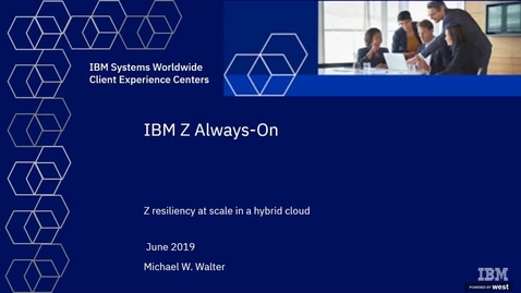 Thumbnail for entry Cloud Imperative: Resiliency and Scale