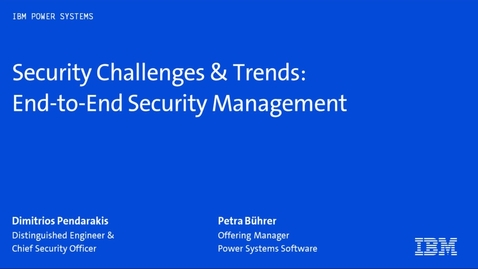 Thumbnail for entry Security challenges and trends - Webinar