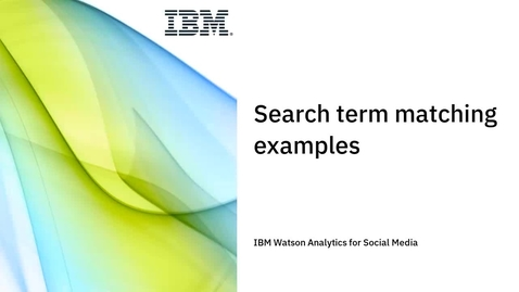Thumbnail for entry Search term matching examples