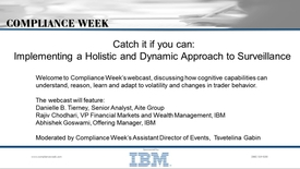 Thumbnail for entry Catch it if you can: Implementing a holistic and dynamic approach to surveillance