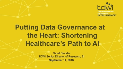 Thumbnail for entry Putting Data Governance at the Heart: Shortening Healthcare's Path to AI