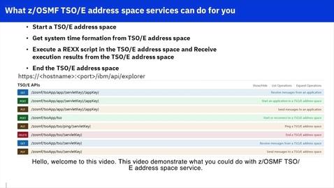 Thumbnail for entry TSO API