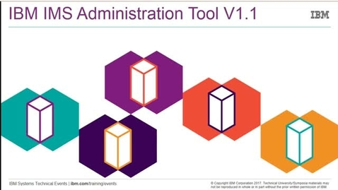 Thumbnail for entry IBM IMS Administration Tool for z/OS - Introduction