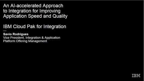 Thumbnail for entry An AI-accelerated Approach to Integration for Improving Application Speed and Quality