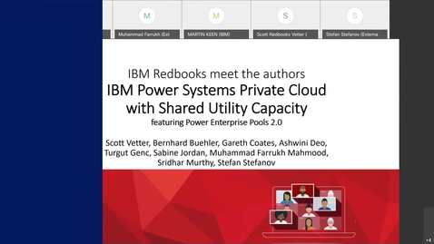 Thumbnail for entry Meet The Authors: IBM Power Systems Private Cloud with Shared Utility Capacity