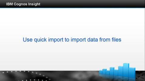 Thumbnail for entry Use quick import to import data from files