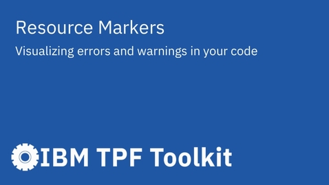 Thumbnail for entry TPF Toolkit: Resource Markers