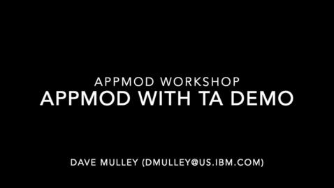 Thumbnail for entry Application Modernization assessment with IBM Cloud Transformation Advisor