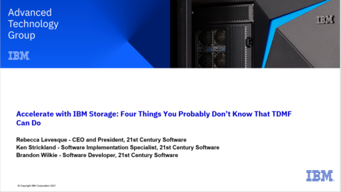 Thumbnail for entry Four Things You Probably Don't Know That TDMF (Transparent Data Migration Facility) 04062021