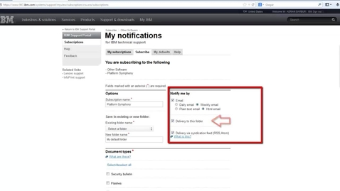 Thumbnail for entry Subscribing to IBM® Spectrum Computing patch notifications