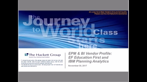 Thumbnail for entry EPM & BI Vendor Profile: EF Education First and IBM Planning Analytics