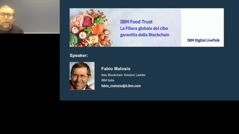 Thumbnail for entry IBM Food Trust - La Filiera globale del cibo garantita dalla Blockchain